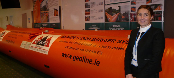 Inflatable flood barriers at CUMBRIA FLOOD EXPO 2017